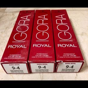 BRAND NEW Schwarzkopf Igora color 9-4.  3 Boxes.